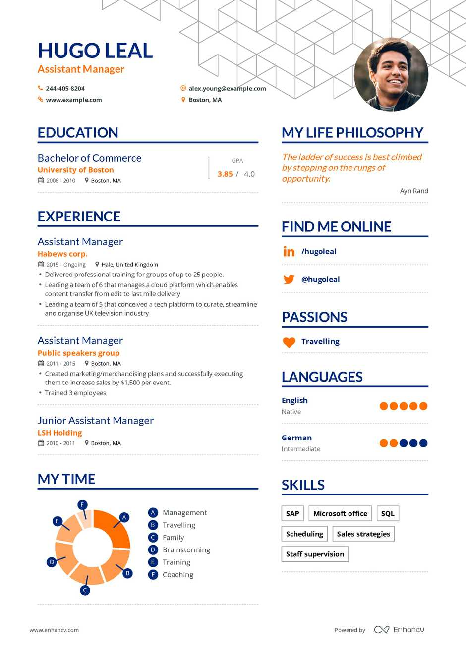 it project manager resume sample assistant manager