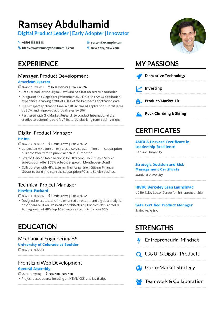 it project manager resume sample product manager